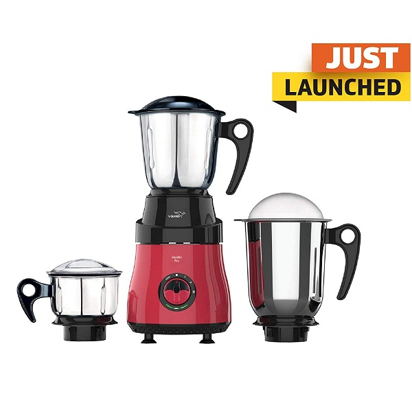 V Guard Invidia Pro 750 Watt 3Jar Mixer Grinder