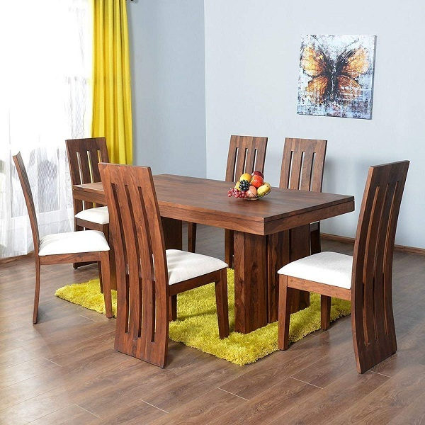 Mamta Decoration Sheesham Wood Dining Table Set for Living Room