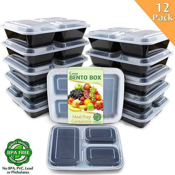 Food Storage Meal Prep Containers 12 Pack