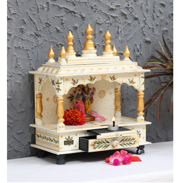 Solid Wood Pooja Mandir for Home And Office