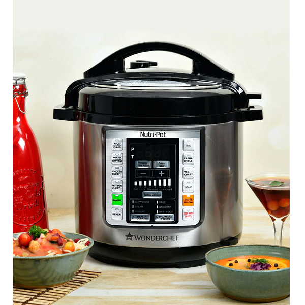 Wonderchef 1000 Watt Black And Silver Nutri Pot