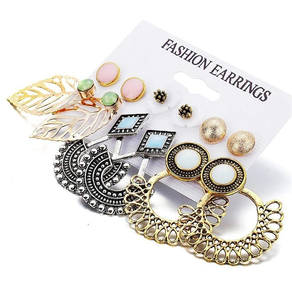 Shining Diva Fashion 6 Pairs of Earrings Combo