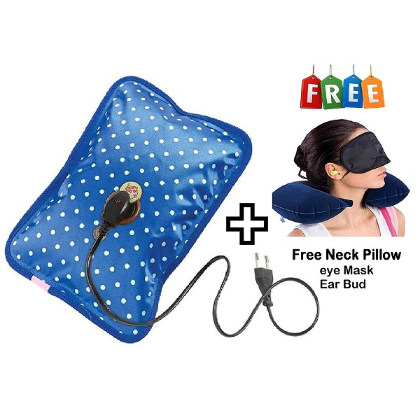 FAMEWORLD Electric Hot Bag Heating Pad with Neck Pillow