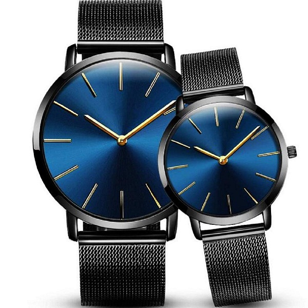 Xinew Couples Combo Blue Dial Analogue Watch