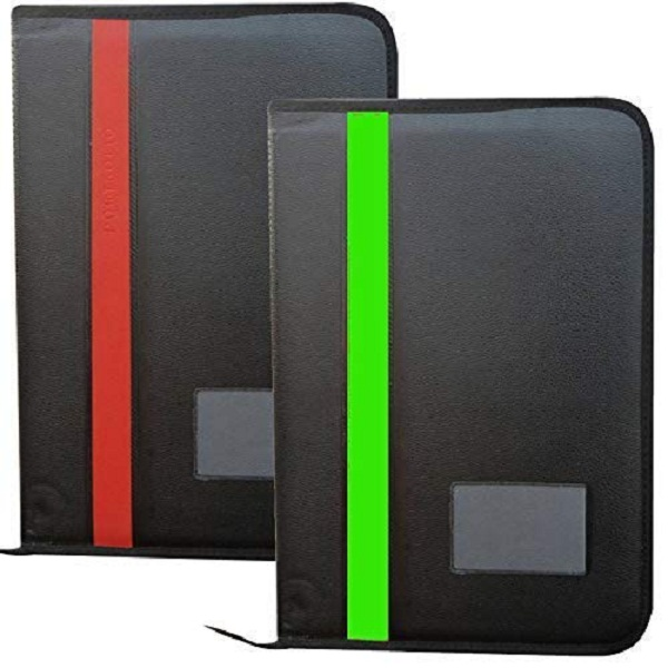 GreatDio Document Folder with Zip Pack of 2