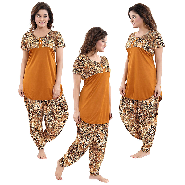 TUCUTE Top and Dhoti Style Bottom Night Suit