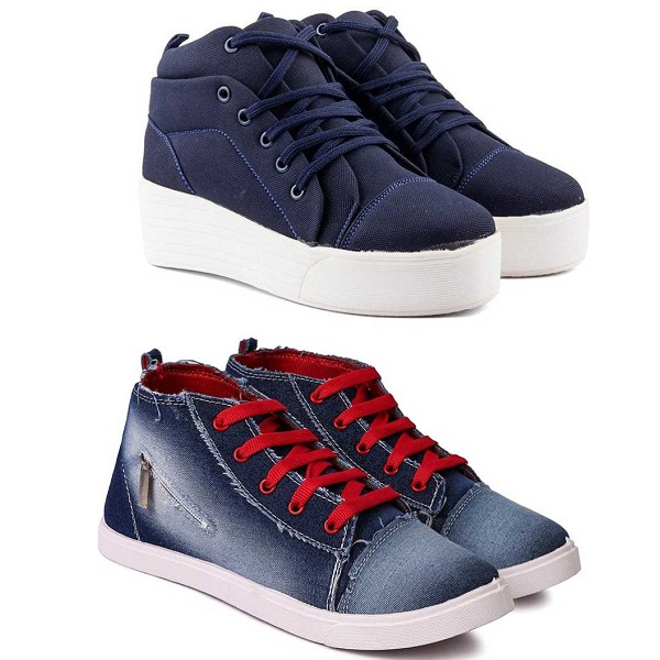 Longwalk Combo Pack of 2 High Tops For Women