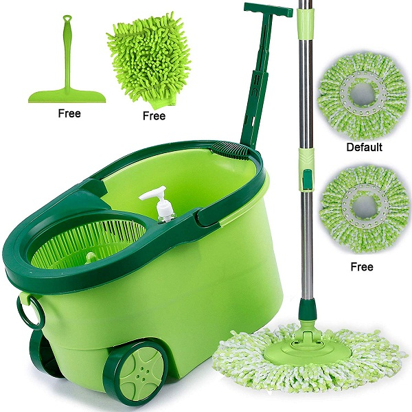 Smile Mom Magic Spin Mop with Bucket Set