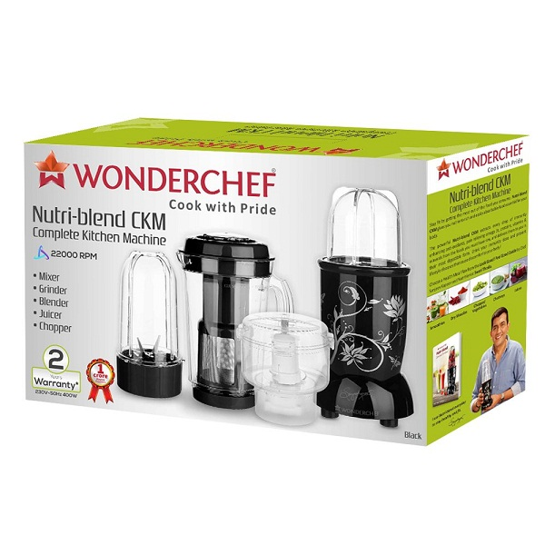 Wonderchef Nutri Blend CKM with 3 Jars