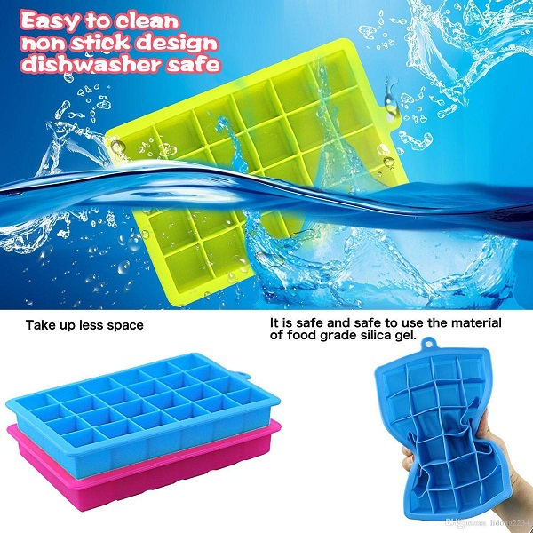 Cartshopper 24 Ice Cube Hot Silicone Freeze Mold