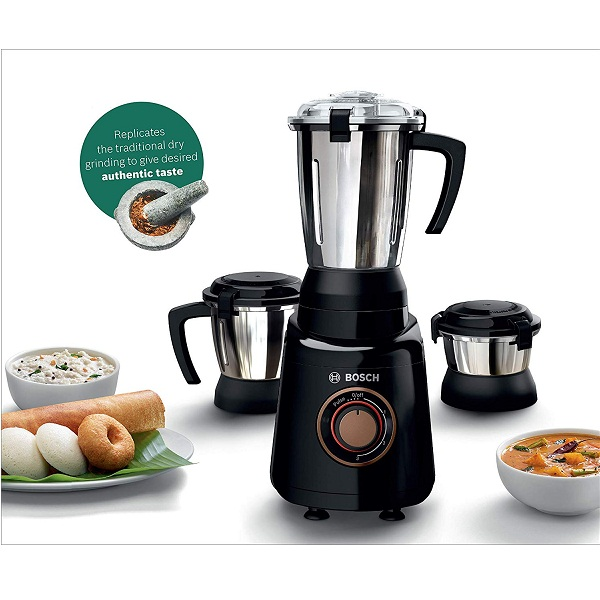Bosch TrueMixx Bold 600Watt Mixer Grinder with 3 Jars