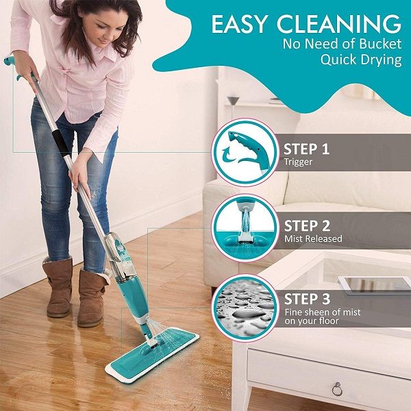 BESQUE Floor Cleaning Healthy Spray Mop