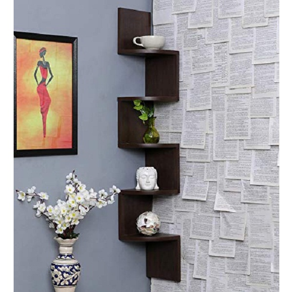 Furniture Cafe Zigzag Corner Wall Mount Shelf