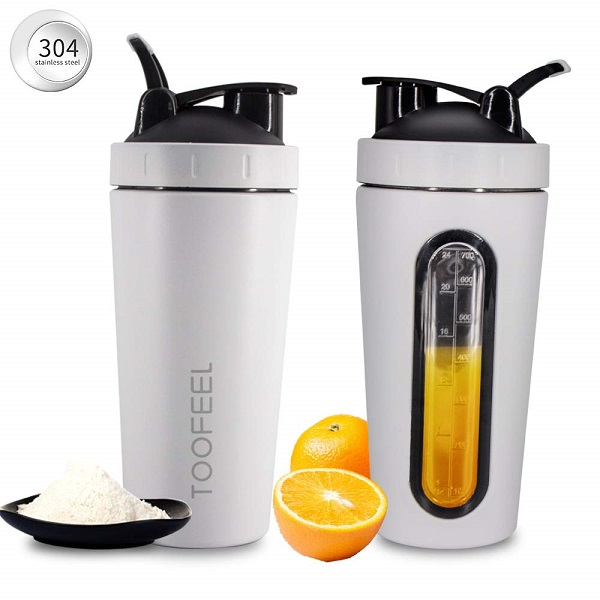 700Ml Protein Shaker Bottle Visible Window Blender Bottle