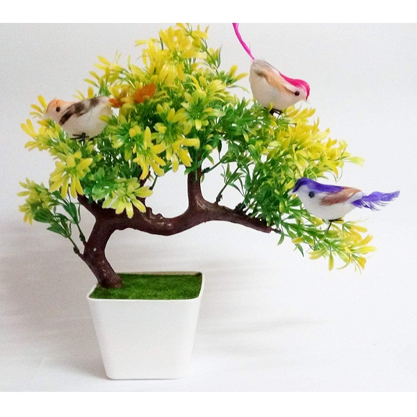Hyperboles Artificial Plants with Hanging Birds