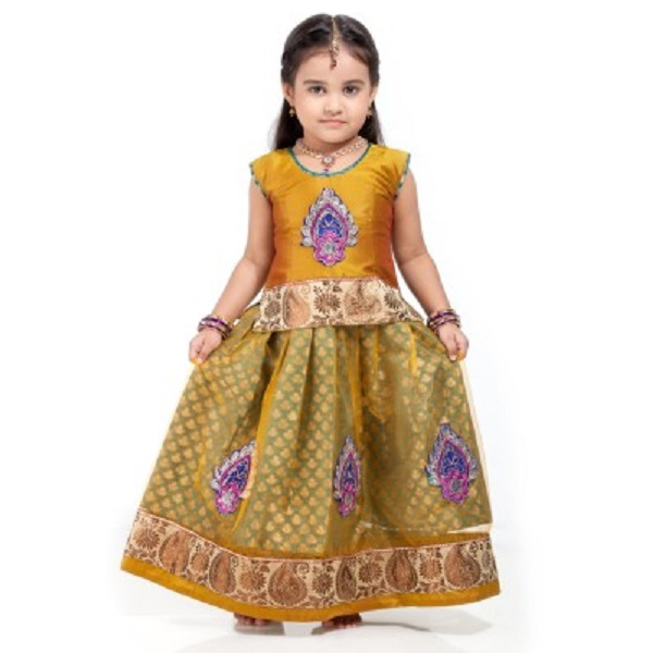 Kanakadara Self Design Baby Girls Lehenga Choli