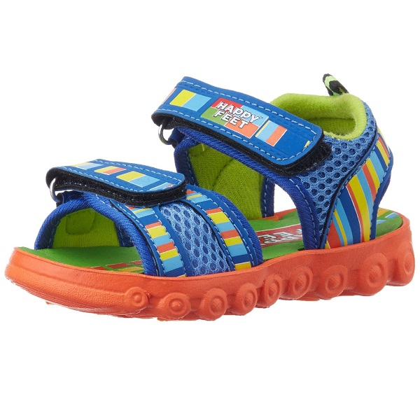 Happy Feet Unisex Funtoosh Blue Sandals and Floaters