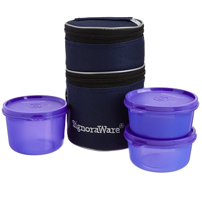 Signoraware Officers Lunch Box with Bag